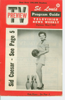 1953 TV PREVIEW May 2 Betty Brewer (16 pg) St. Louis edition Excellent - No Mailing Label  [Very lt wear, contents]
