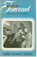 1948 TV FORECAST August 16 Bud Young and Richy Victor (16 pg) Chicago edition Very Good  [Wear, creasing on cover; contents fine]
