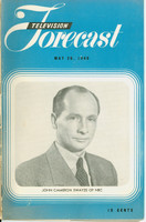 1949 TV FORECAST May 28 John Cameron Swayze (20 pg) Chicago edition Very Good  [Heavy curl along binding, contents fine]