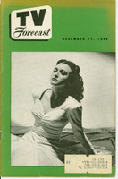 1949 TV FORECAST December 17 Connie Russell (32 pg) Chicago edition Very Good to Excellent  [Heavy toning on cover; contents fine]