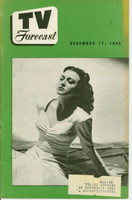 1949 TV FORECAST December 17 Connie Russell (32 pg) Chicago edition Excellent  [Toning on cover; contents fine]