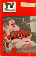 1949 TV FORECAST December 24 Merry Christmas (24 pg) Chicago edition Very Good to Excellent  [Lt wear on cover, ow clean]