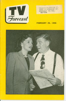 1950 TV FORECAST February 25 Arthur Godfrey and Janette Davis (32 pg) Chicago edition Excellent  [Lt scratch on cover, ow very clean]