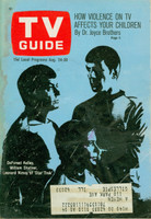 1968 TV Guide Aug 24 Cast of Star Trek St. Louis edition Good to Very Good  [Heavy moisture on cover, sl loose at staples; contents fine]