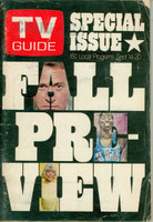 1968 TV Guide Sep 14 Fall Preview Eastern Illinois edition Very Good - No Mailing Label  [Wear and creasing on cover; contents fine]