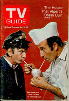 1968 TV Guide Nov 16 Cast of The Good Guys Northern Illinois edition Very Good - No Mailing Label  [Lt wear and creasing on cover; contents fine]