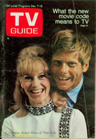 1968 TV Guide Dec 7 Robert Morse and EJ Peaker of That's Life Oregon State edition Very Good - No Mailing Label  [Lt wear and creasing on cover; contents fine]