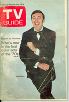 1969 TV Guide Sep 20 Jim Nabors Montana edition Good to Very Good - No Mailing Label  [Very loose at staples with minor tears; heavy creasing; contents fine]