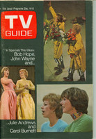1971 TV Guide December 4 Julie Andrews and Carol Burnett Cleveland edition Excellent - No Mailing Label  [Lt scuffing on cover; ow very clean]