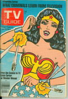 1977 TV Guide Jan 29 Wonder Woman (Classic Cover) North Texas edition Very Good to Excellent - No Mailing Label  [Loose at staples, ow clean]