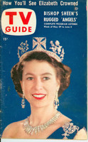 1953 TV Guide May 29 Queen Elizabeth Philadelphia edition Very Good - No Mailing Label  [Wear and lt staining on cover; contents fine]