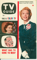 1953 TV Guide Jun 26 Dinah Shore Detroit edition Very Good  [Wear and creasing on both covers; contents fine]