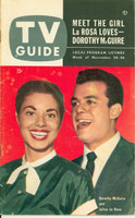 1953 TV Guide Nov 20 Julius LaRosa and Dorothy McGuire Cincinnati-Dayton edition Very Good  [Staining on cover, contents fine; label on reverse]