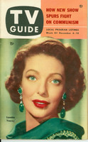 1953 TV Guide Dec 4 Loretta Young Philadelphia edition Excellent to Mint - No Mailing Label  [Lt spotting on cover; ow very clean]