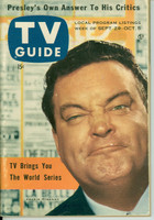 1956 TV Guide Sep 29 Jackie Gleason (Elvis feature Part 3) New England edition Very Good to Excellent - No Mailing Label  [Lt wear on cover; ow clean]