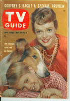 1960 TV Guide Apr 30 June Lockhart and Lassie Arizona-New Mexico edition Very Good - No Mailing Label  [Sl warping, wear on cover; contents fine]