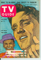 1960 TV Guide May 7 Elvis Presley and Frank Sinatra Indiana edition Very Good to Excellent  [Lt wear on cover; label removed; contents fine]