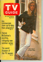 1968 TV Guide May 25 Diane Hyland of Peyton Place Los Angeles edition Fair to Good - No Mailing Label  [Cover nearly completely DETACHED, wear and creasing on cover; contents fine]