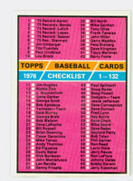 1976 Topps Baseball 119 Checklist One Excellent