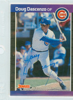Doug Dascenzo AUTOGRAPH 1989 Donruss Cubs 