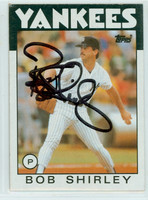 Bob Shirley AUTOGRAPH 1986 Topps #213 Yankees 