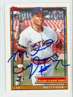 Milt Cuyler AUTOGRAPH 1991 Topps Tigers 