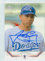 James Loney AUTOGRAPH 2002 Upper Deck Future Gems Dodgers 