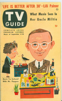 1953 TV Guide Sep 4 Wally Cox of Mr Peepers Mid States edition Excellent - No Mailing Label  [Lt wear and scuffing on cover; ow clean]