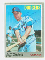 Jeff Torborg AUTOGRAPH 1970 Topps #54 Dodgers PERS