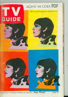 1966 TV Guide Mar 5 Barbara Feldon - Cover by Andy Warhol Eastern New England edition Very Good to Excellent - No Mailing Label  [Sl loose at staples, scuffing on cover; contents fine]