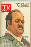 1973 TV Guide Mar 3 William Conrad of Cannon Eastern New England edition Excellent to Mint - No Mailing Label  [Lt toning along binding, ow very clean]