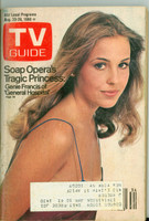 1980 TV Guide Aug 23 Genie Francis of General Hospital NY Metro edition Very Good  [Lt moisture ring on cover, scuffing on cover, contents fine]