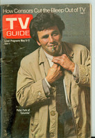 1973 TV Guide May 5 Peter Falk of Columbo Western New England edition Very Good to Excellent - No Mailing Label  [Wear on cover, sl moisture on back cover; contents fine]