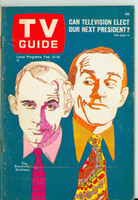1968 TV Guide Feb 10 Smothers Brothers Western Illinois edition Very Good to Excellent - No Mailing Label  [Lt wear and scuffing on cover; ow clean]