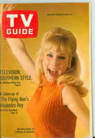 1968 TV Guide Jul 6 Barbara Eden of I Dream of Jeannie Central Pennsylvania edition Very Good - No Mailing Label  [Sl loose at staples, lt wear on cover; contents fine]