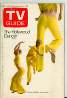 1969 TV Guide Jun 7 The Hollywood Dancers Central California edition Very Good - No Mailing Label  [Moisture on cover, heavy scuffing, contents fine]