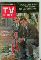 1969 TV Guide Nov 1 Cast of Room 222 Western New England edition Very Good - No Mailing Label  [Sl loose at staples, heavy wear on cover; contents fine]