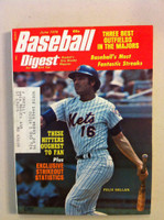 1974 Baseball Digest June Felix Millan (from the Red Schoendienst Collection) Excellent to Excellent Plus