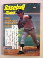 1974 Baseball Digest September Tommy John (from the Red Schoendienst Collection) Good to Very Good