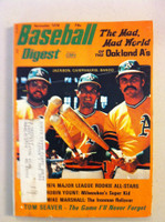 1974 Baseball Digest November Reggie Jackson, Bando, Campy (from the Red Schoendienst Collection) Very Good to Excellent