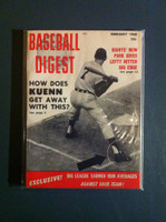 1960 Baseball Digest February Harvey Kuenn Excellent to Mint