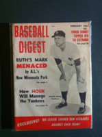 1961 Baseball Digest February Ralph Houk Very Good to Excellent