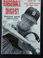 1961 Baseball Digest August Norm Cash Very Good to Excellent