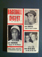 1961 Baseball Digest October Mantle - Koufax - Maris - F. Robinson Very Good to Excellent