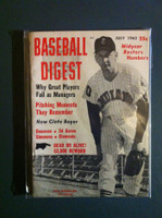 1962 Baseball Digest July Dick Donovan Near-Mint Plus