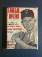 1962 Baseball Digest September Rich Rollins Very Good to Excellent