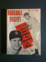 1964 Baseball Digest June Carl Yastrzemski - Tommy Davis Excellent
