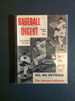 1965 Baseball Digest August Don Drysdale Fair to Good