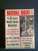 1965 Baseball Digest October Biggest World Series Mysteries Near-Mint Plus