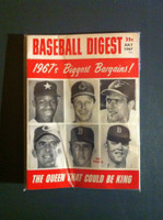1967 Baseball Digest July Denny McLain (First Cover) Excellent
